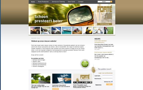 Praktische nieuwe website van Forté