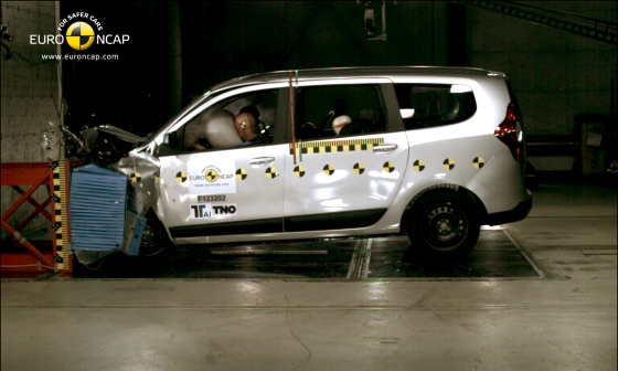 Dacia Lodgy scoort slechts drie sterren in Euro NCAP test
