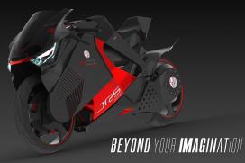 JRS-M01 motorfietsconcept moet aandacht trekken