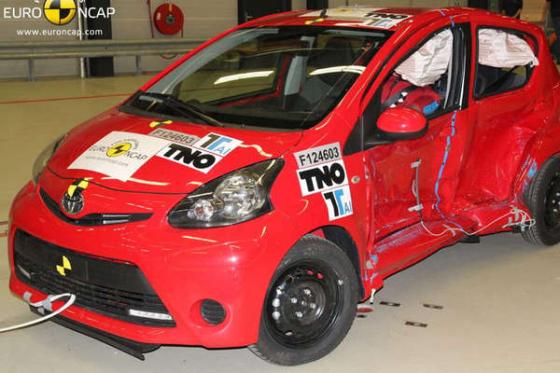 Aygo, C1 en 107 falen in Euro NCAP-test