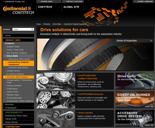 Nieuwe ContiTech website en brochure