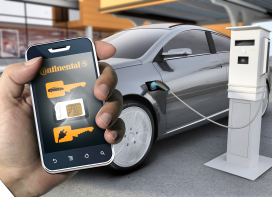 Conti opent deelauto per smartphone