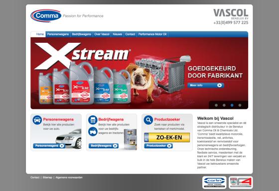Ook Vascol gaat Comma in Benelux distribueren
