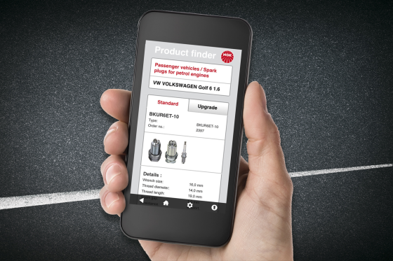 NGK introduceert app om producten te vinden