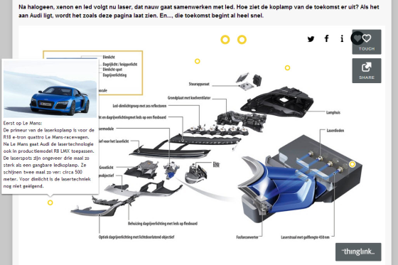 Hoe werkt Audi's laserkoplamp?