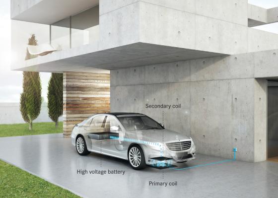 Mercedes en BMW ontwikkelen standaard voor inductief opladen elektrische auto's