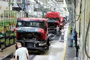Scania ziet winst kelderen door recessie