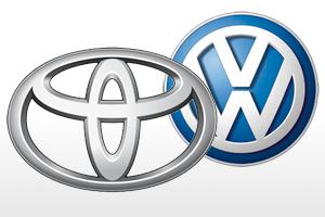 Voorsprong Toyota op VW kleiner