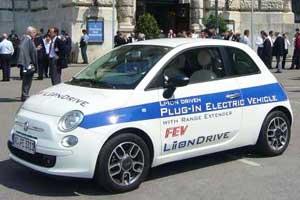 Elektro-auto met wankelmotor