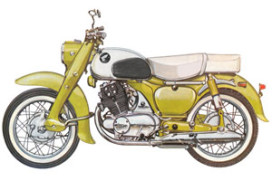1962: Honda's originele motorfiets-techniek (1962-5)
