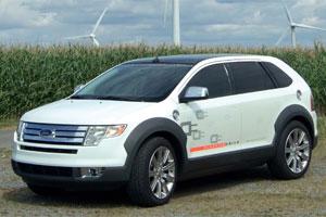 Seriehybride brandstofcelauto van Ford (2008-9)