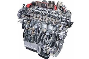 Nieuwe Audi turbo-vijfpitter spaart ruimte (2010-9)