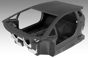 Nieuwe Lamborghini richtingwijzend met koolstofvezel