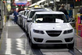 Productie Saab tijdelijk stilgelegd