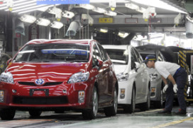 Productie Toyota Japan bijna weer op niveau