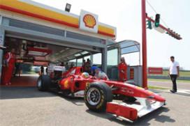 Shell track lab onderdeel van Ferrari F1-team (2011-10)