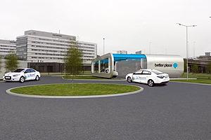 Accu-wisselstation voor elektrische auto's komt op Schiphol