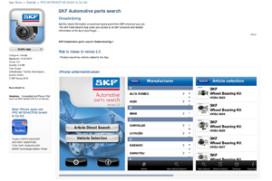 SKF autocatalogus uit de 'App Store