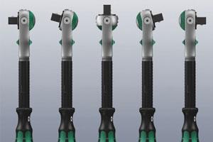 Wera Zyklop ratelsleutel gemakkelijk inzetbaar door kantelbare kop
