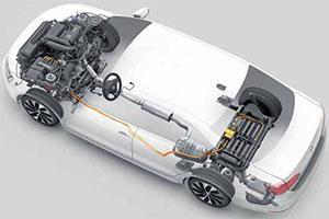 De eerste van de VW 'hybrid'-generatie (2013-4)