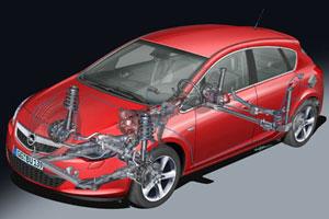 Opel Astra onderstelontwikkeling