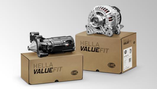 De kartonnen verpakkingen van de starters en dynamo's zijn inmiddels al aan de nieuwe naam Valuefit aangepast.