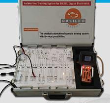 Galileo Systems introduceert een benzinesimulator. Deze simuleert de motorelektronica van een VW Golf 1.2 TSI. Het systeem, ondergebracht in een handzame koffer, is door Galileo ontwikkeld voor trainingsdoeleinden.