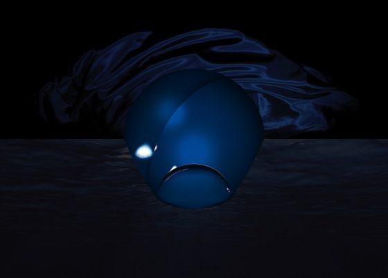 Zeer donkerblauw met een zijden afwerking geeft een mysterieuze uitstraling.