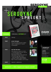 Het programma van de lezing van Sergoyne spreekt.