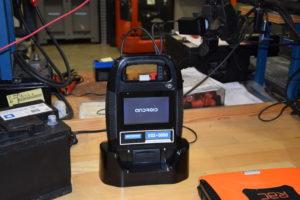 De nieuwste tester die hier in ontwikkeling is, wordt een compleet online diagnosestation.