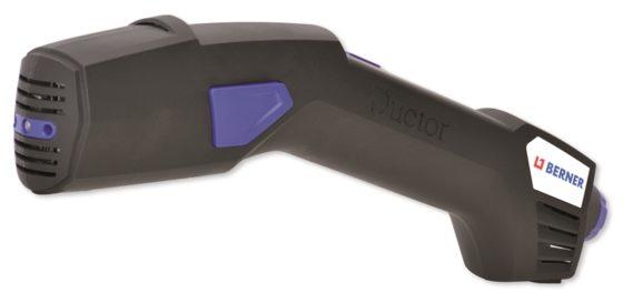 Berner: I-ductor inductieverwarmer - € 995. Voor losmaken van muurvast zittende onderdelen, verwijderen van oude laklagen of steenslagcoating, zonder open vuur. Elektronisch geregeld, 1200 W, ingebouwde LED-lamp. Artikel 333708.