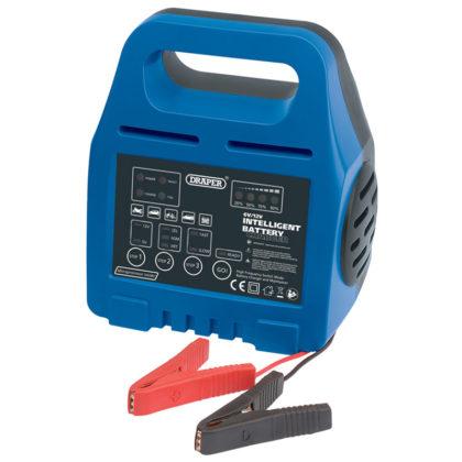 Automatische acculader BC1B - € 59,50. Geschikt voor 6 en 12 V, en voor standaard/AGM/gel batterijen. Bereik van 40 tot 160 Ah. Elektronisch gestuurd. Artikel 33861.