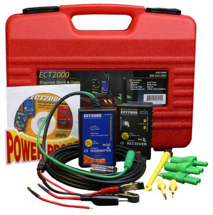 Serenco: Powerprobe 3 en ECT 2000 - € 399. Onmisbaar om veilig kabelbreuken of massasluiting te zoeken in de moderne auto-elektronica, geschikt voor CAN-bus. De Masterkit bestaat uit de ECT 2000 diagnoseset en Powerprobe 3, ook apart leverbaar. Artikel PPKIT03.