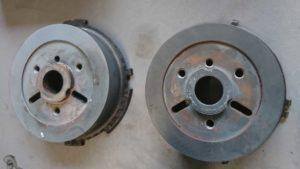 Er is een duidelijk verschil zichtbaar tussen de twee pulswielen, ook al is de motorcode in beide gevallen BPW.