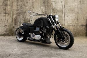 Nog steeds toont Neander de diesel motorfiets ontwerpen waarmee het begon. Maar bestellen kun je ze al heel lang niet meer.