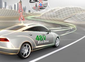 Batterijtechniek is niet nieuw voor Continental. Op de IAA van 2017 presenteerden de Duitsers al hun 48 Volt hybride aandrijftechniek.