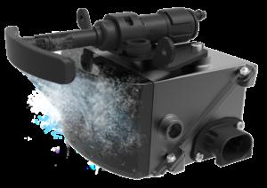 Een soort verbeterde koplampsproeier houdt met veel straaltjes en weinig vloeistof sensors zoals de SCALA LiDAR van Valeo schoon. Onmisbaar voor alle sensors bij autonome voertuigen?