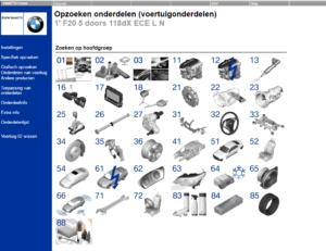 De elektronische onderdelencatalogus werkt bijzonder snel en doeltreffend, met dank aan duidelijke afbeeldingen.