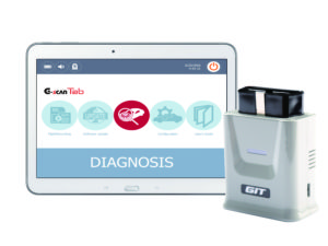 De G-Scan TAB is een bluetooth OBD2-dongle met software voor installatie op een Windows PC, laptop of table