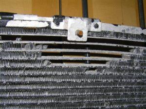 Airco-condensor-corrosie