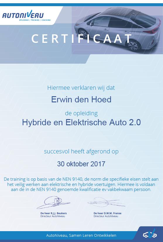 Autoniveau Training Hybride En Elektrische Auto 2 0 Amt