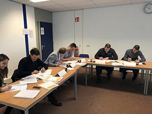Deelnemers aan de nieuwe cursus