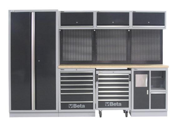 Beta C45 werkplaatsinrichting biedt veel opbergruimte voor minder