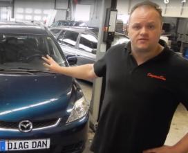 Hoe vond DiagnoseDan de oorzaak van misfires bij een Mazda 5?